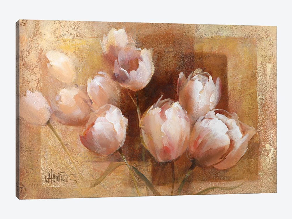 Willem's Tulips For You by Willem Haenraets 1-piece Canvas Art
