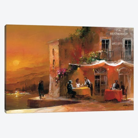 Dinner For Two I Canvas Print #HAE27} by Willem Haenraets Canvas Print