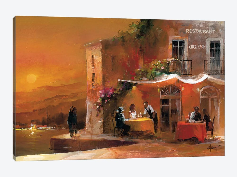 Dinner For Two I by Willem Haenraets 1-piece Canvas Print