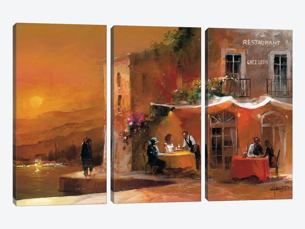 Dinner For Two I by Willem Haenraets 3-piece Art Print