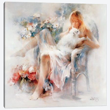 Young Girl Canvas Print #HAE281} by Willem Haenraets Canvas Artwork