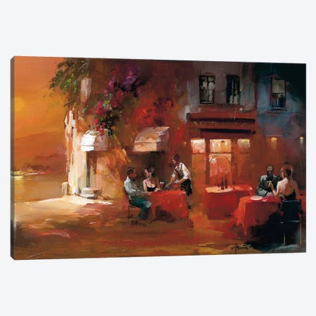 Dinner For Two II Canvas Print #HAE28} by Willem Haenraets Canvas Art