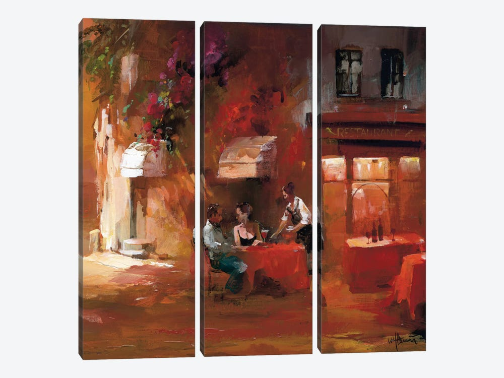 Dinner For Two III by Willem Haenraets 3-piece Canvas Art Print