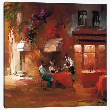 Dinner For Two III Canvas Print #HAE29} by Willem Haenraets Canvas Artwork