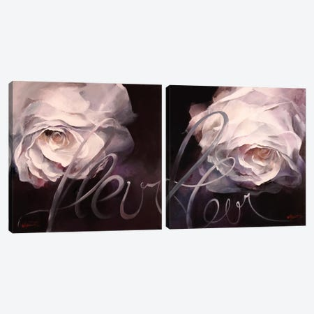 Fleur Diptych Canvas Print Set #HAE2HSET001} by Willem Haenraets Canvas Art Print
