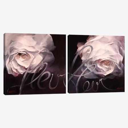 Fleur Diptych Canvas Print Set #HAE2HSET001} by Willem Haenraets Canvas Art Print