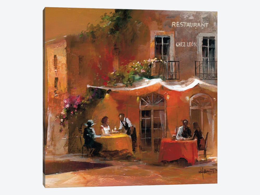Dinner For Two IV by Willem Haenraets 1-piece Canvas Art Print