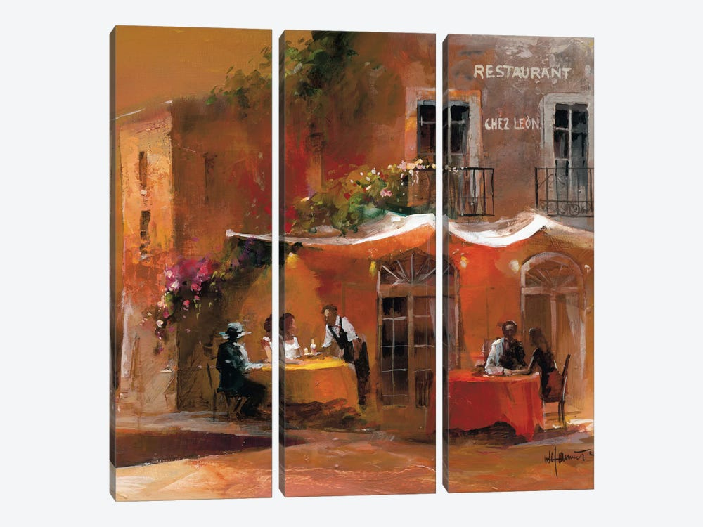 Dinner For Two IV by Willem Haenraets 3-piece Canvas Print