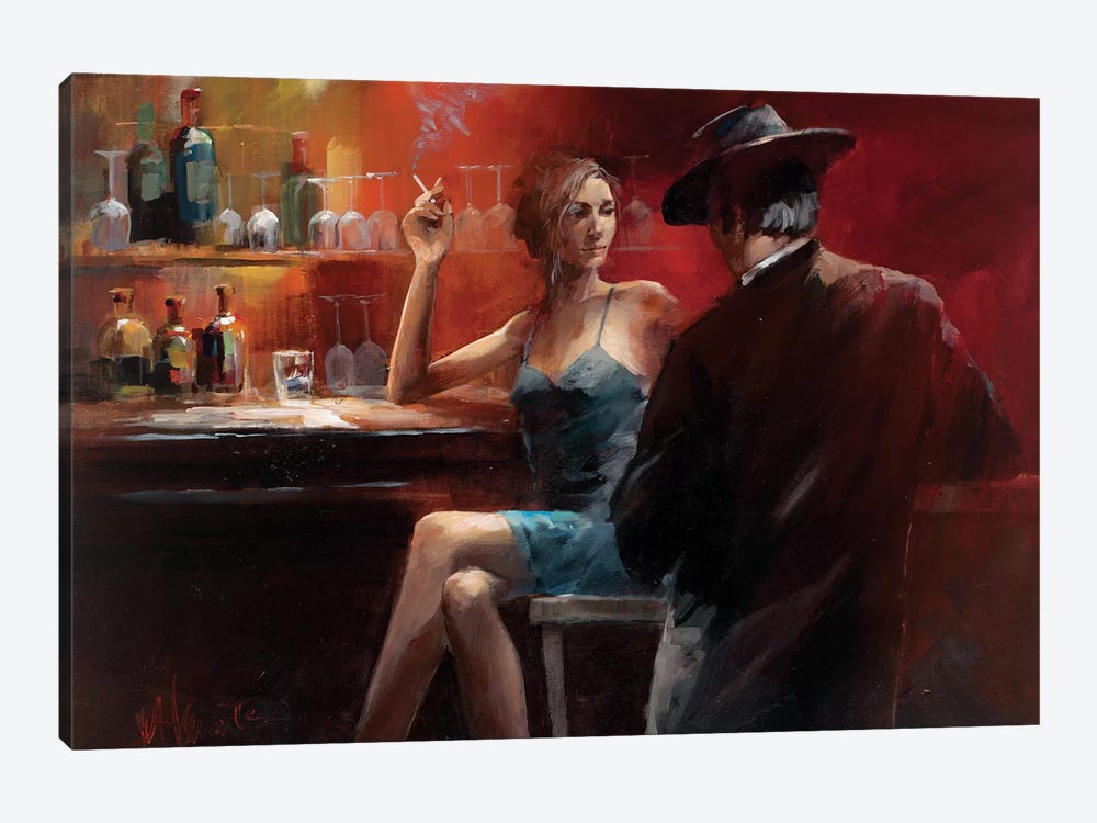 Evening In The Bar II by Willem Haenraets 1-piece Canvas Wall Art