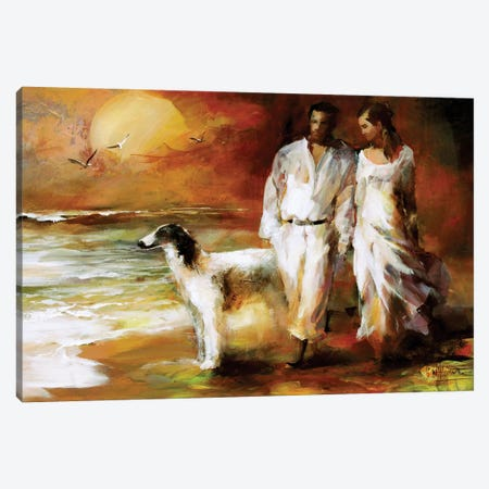 Go For A Walk Canvas Print #HAE38} by Willem Haenraets Canvas Art Print