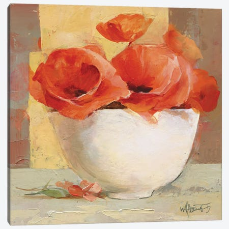 Lovely Poppies I Canvas Print #HAE43} by Willem Haenraets Canvas Artwork