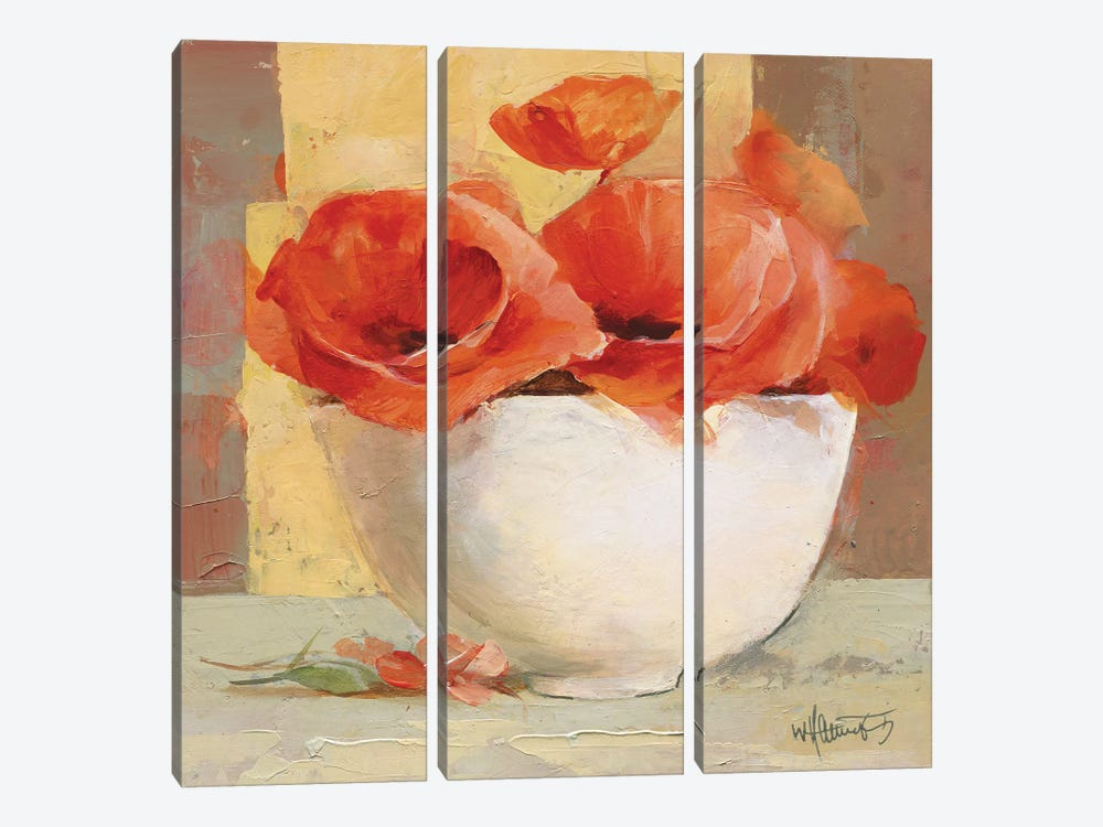Lovely Poppies I by Willem Haenraets 3-piece Canvas Art Print