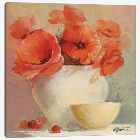 Lovely Poppies II Canvas Print #HAE44} by Willem Haenraets Canvas Print