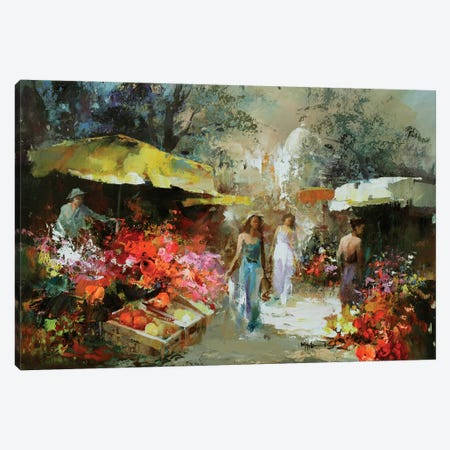 Marketplace I Canvas Print #HAE45} by Willem Haenraets Canvas Art Print