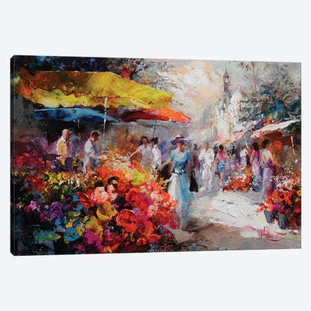 Marketplace III Canvas Print #HAE47} by Willem Haenraets Art Print