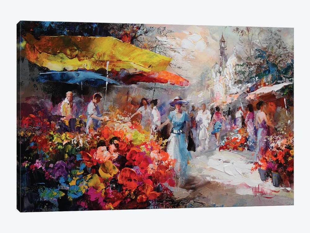 Marketplace III by Willem Haenraets 1-piece Canvas Art Print