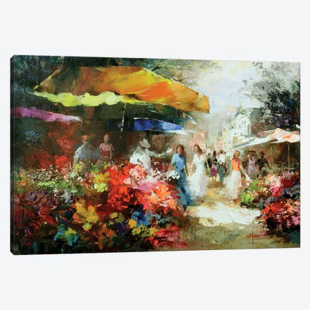 The Marketplace III Canvas Print #HAE50} by Willem Haenraets Canvas Print