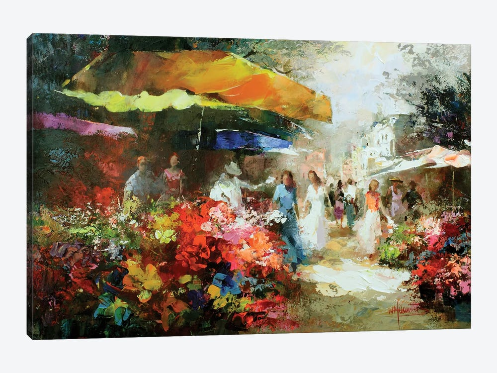The Marketplace III by Willem Haenraets 1-piece Canvas Print