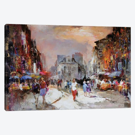 Market Square Canvas Print #HAE52} by Willem Haenraets Art Print