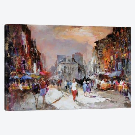 Market Square Canvas Print #HAE52} by Willem Haenraets Art Print