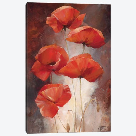 Poppy Bouquet I Canvas Print #HAE54} by Willem Haenraets Canvas Wall Art