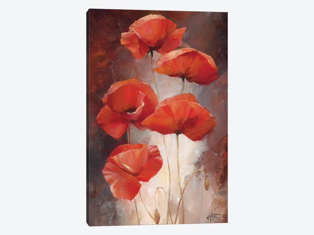 Poppy Bouquet I by Willem Haenraets 1-piece Art Print