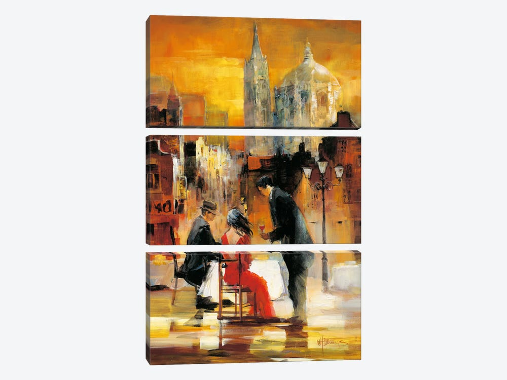 Romance II by Willem Haenraets 3-piece Canvas Print