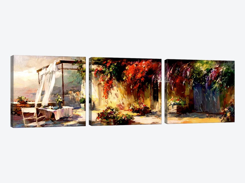 Romantic Place by Willem Haenraets 3-piece Canvas Artwork