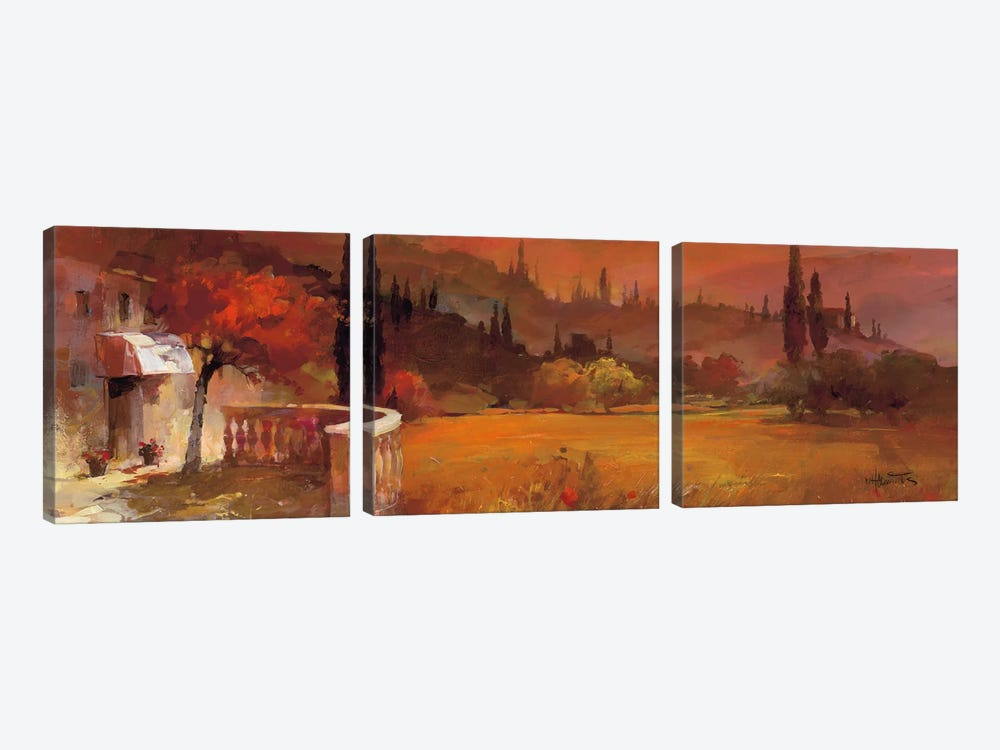 Romantic Tuscany I by Willem Haenraets 3-piece Canvas Artwork