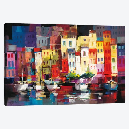 Seaport Town I Canvas Print #HAE64} by Willem Haenraets Canvas Art Print