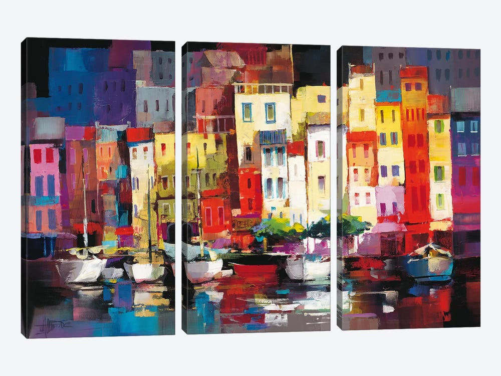 Seaport Town I by Willem Haenraets 3-piece Canvas Artwork