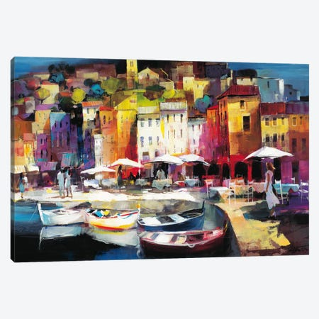 Seaport Town II Canvas Print #HAE65} by Willem Haenraets Art Print