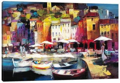 Seaport Town II Canvas Art Print