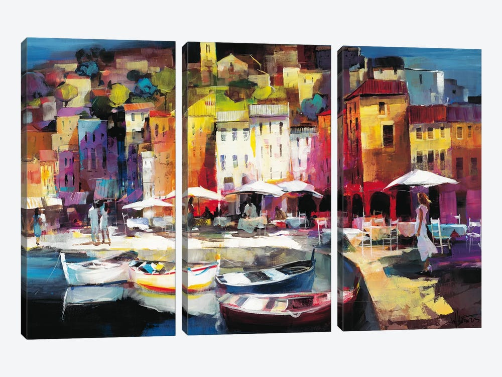Seaport Town II by Willem Haenraets 3-piece Art Print