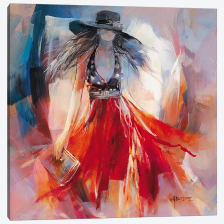 Summer Dress I Canvas Print #HAE67} by Willem Haenraets Canvas Art Print