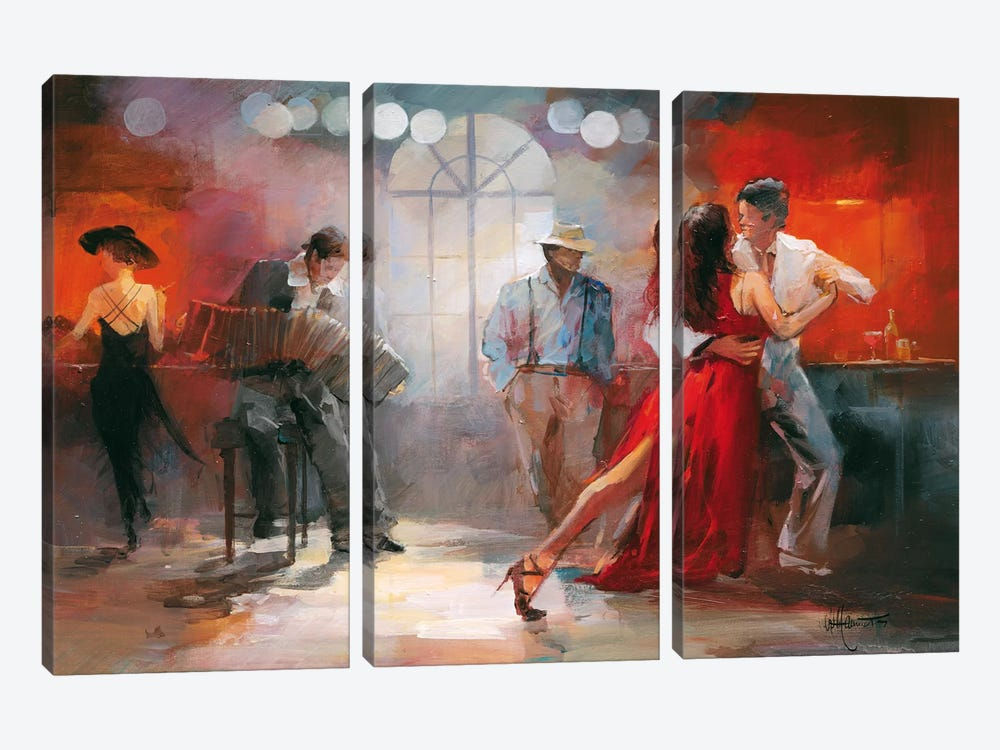 Tango 3-piece Canvas Art Print
