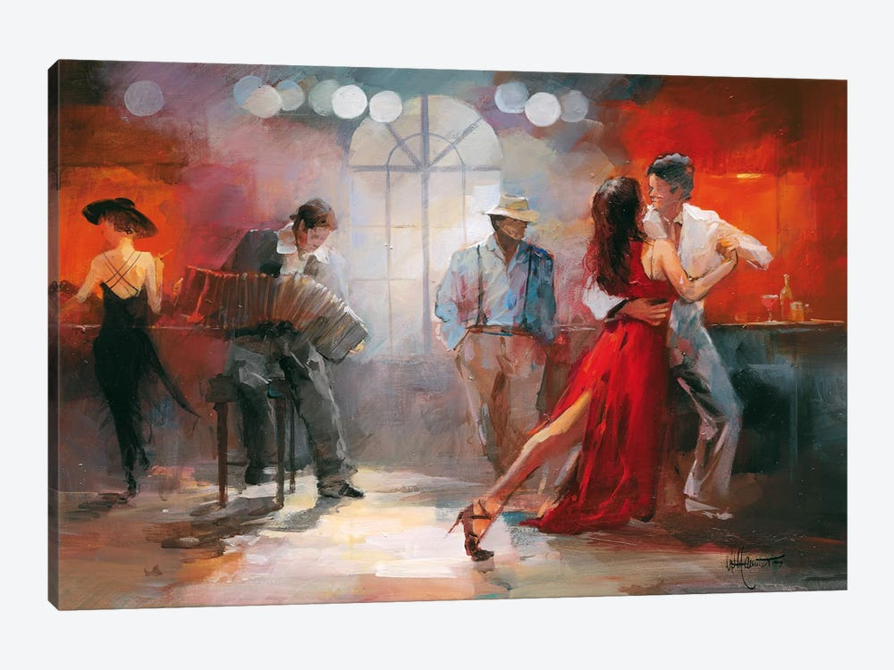 Tango by Willem Haenraets 1-piece Canvas Art Print