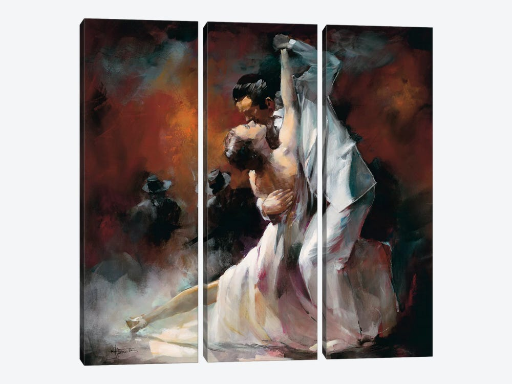 Tango Argentino I by Willem Haenraets 3-piece Canvas Art Print