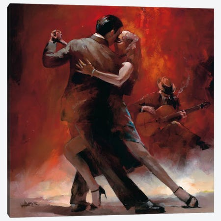 Tango Argentino II Canvas Print #HAE71} by Willem Haenraets Canvas Print