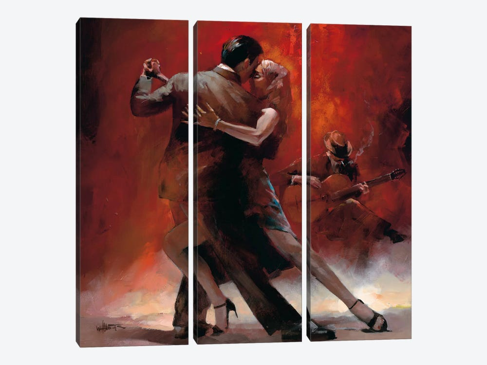 Tango Argentino II by Willem Haenraets 3-piece Canvas Wall Art