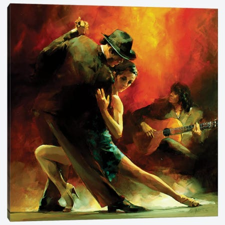 Tango Argentino III Canvas Print #HAE72} by Willem Haenraets Canvas Art Print