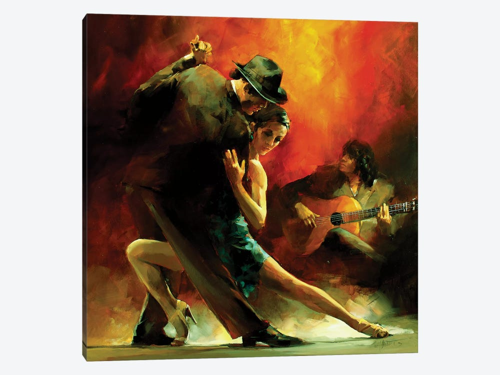 Tango Argentino III by Willem Haenraets 1-piece Canvas Print