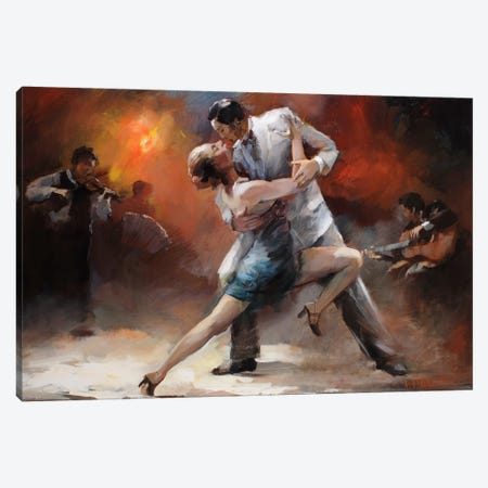 Tango Argentino IV Canvas Print #HAE73} by Willem Haenraets Canvas Print