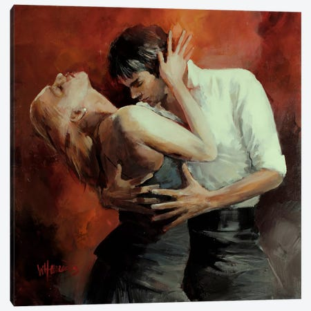 Tango Passion Canvas Print #HAE75} by Willem Haenraets Canvas Artwork