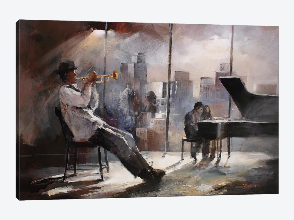 Trumpeter by Willem Haenraets 1-piece Canvas Wall Art