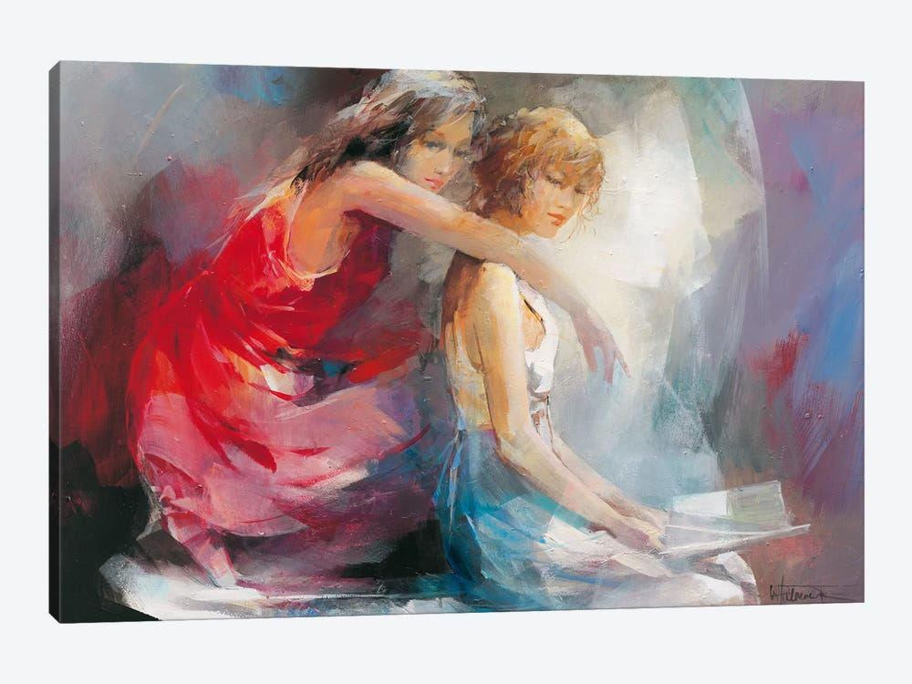 Two Girl Friends II by Willem Haenraets 1-piece Canvas Artwork