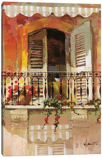 Balcony I Canvas Art Print