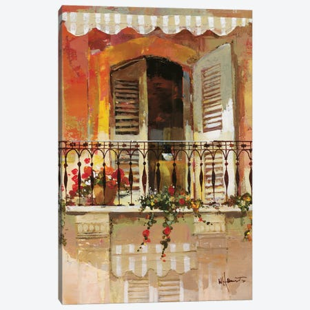 Balcony I Canvas Print #HAE7} by Willem Haenraets Canvas Art Print
