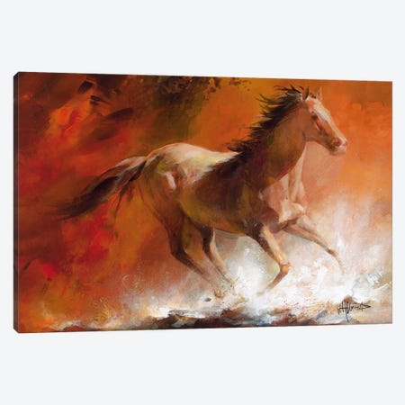 Wild Horses I Canvas Print #HAE83} by Willem Haenraets Canvas Artwork