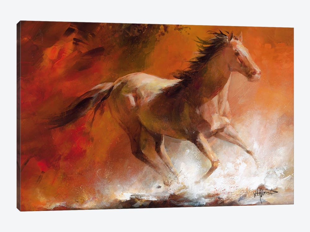 Wild Horses I by Willem Haenraets 1-piece Canvas Print